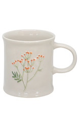Two's Company Floral Mug Orange