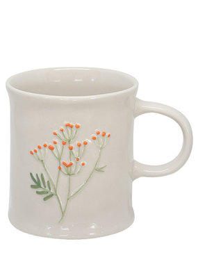 Two's Company Floral Mug Orange