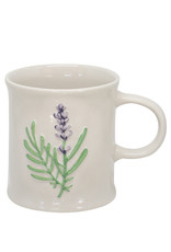 Two's Company Floral Mug Purple