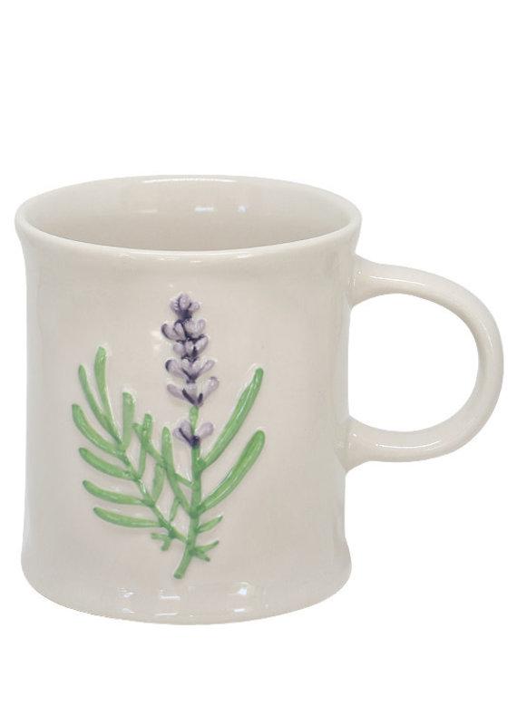 Two's Company Floral Mug Purple