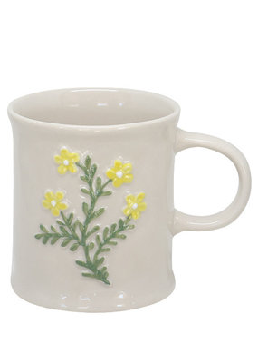 Two's Company Floral Mug Yellow