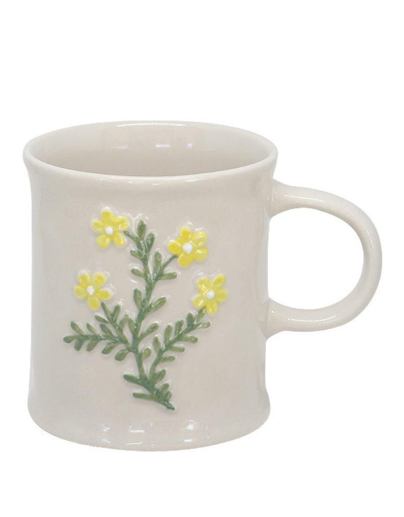 Two's Company Floral Mug Yellow