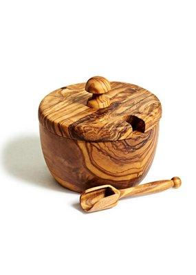 Natural Olive Wood Olive Wood Sugar Bowl