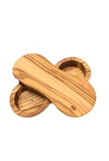 Natural Olive Wood Olive Wood Salt & Pepper Keeper