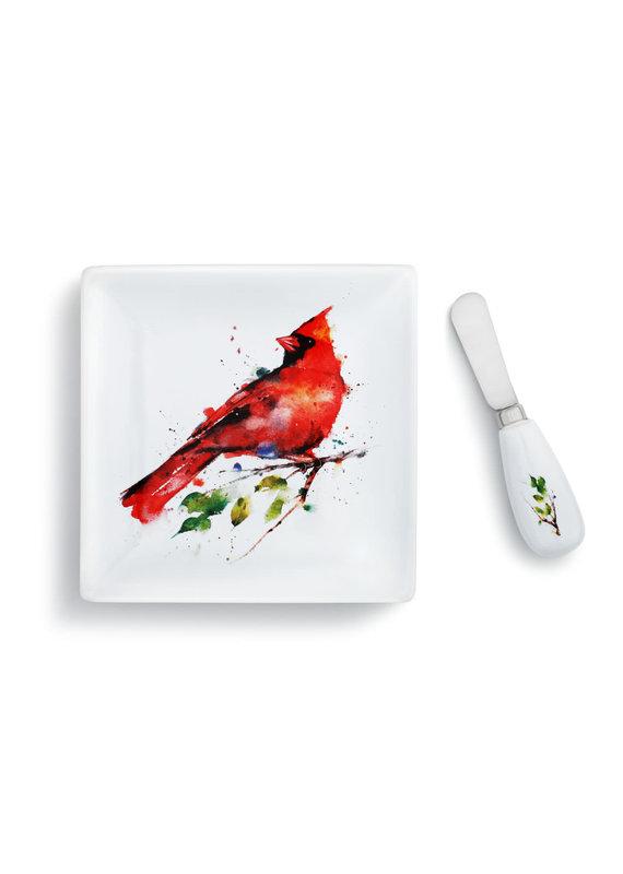 Plate w Spreader Spring Cardinal