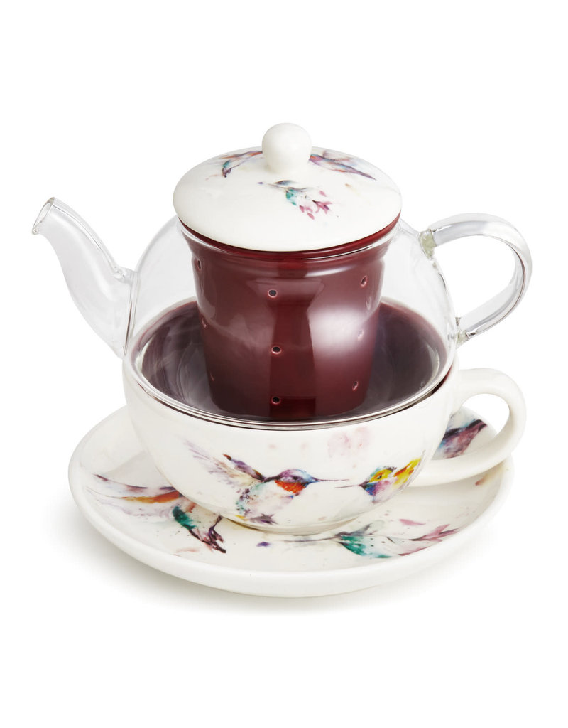 Tea Pot Set Hummingbird