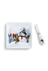 Plate w Spreader Set Winter Friends