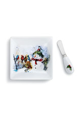 Winter Friends Plate and Spreader Set