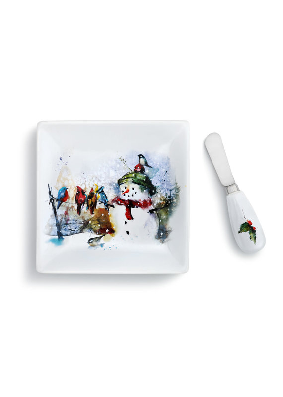 Plate w Spreader Set Winter Friends