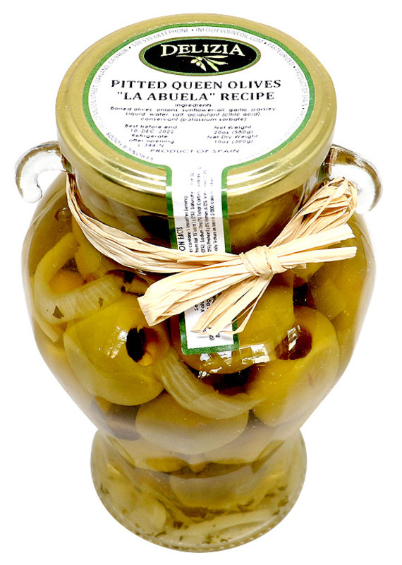 "Olives Pitted Queen Olives, Gordal ""La Abuela""(with onion)"