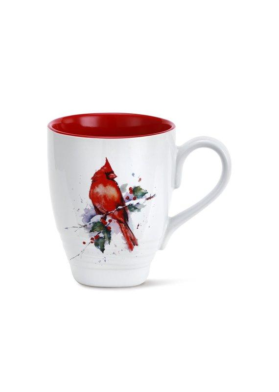 Cardinal and Holly Holiday Mug