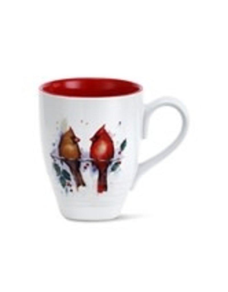 Two Cardinals and Holly Holiday Mug