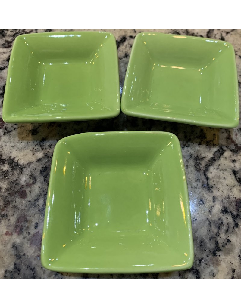 Dipping Dishes Square Lt Green