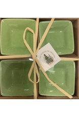 Set of 4 Dipping Dishes Square Lt Green