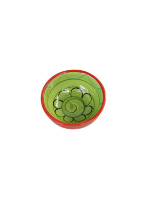 NaturallyMed Ceramic Dipping Bowl 3″ LT Green
