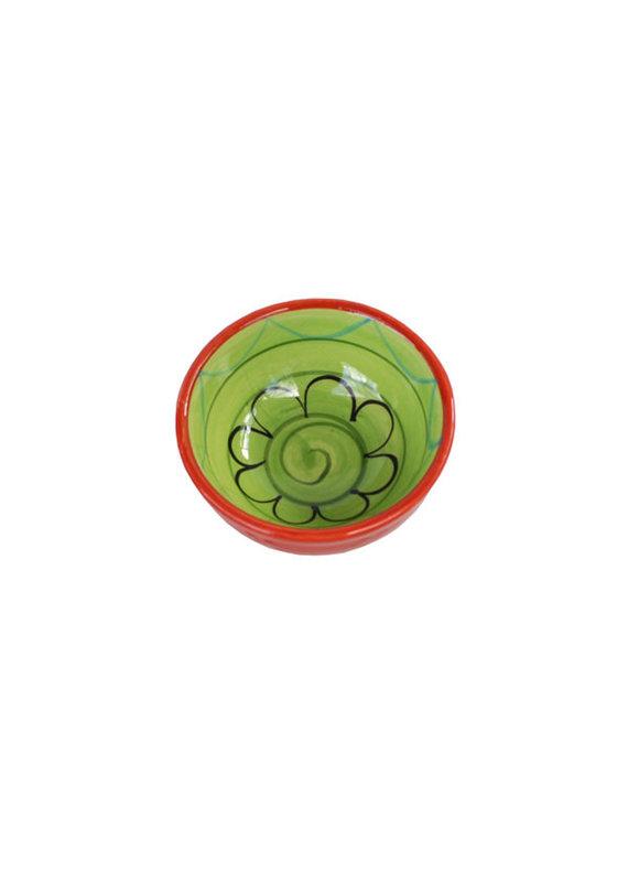 NaturallyMed Ceramic Dipping Bowl 3″ LT Green