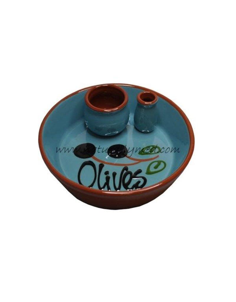 NaturallyMed Ceramic Olive Dish Lt Blue