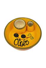 NaturallyMed Ceramic Olive Dish Yellow