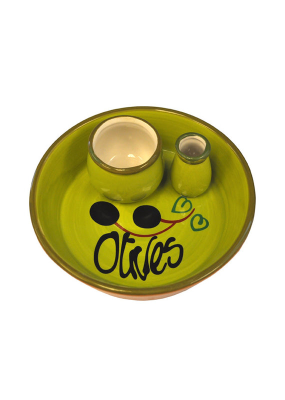 NaturallyMed Ceramic Olive Dish Olive