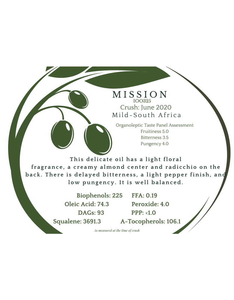 Southern Hemisphere Olive Oil Mission S. Africa IOO953