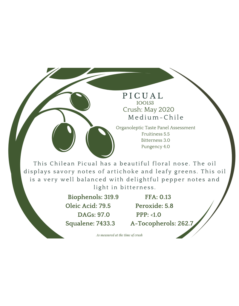Southern Hemisphere Olive Oil A.L. Estates Picual Chile IOO153