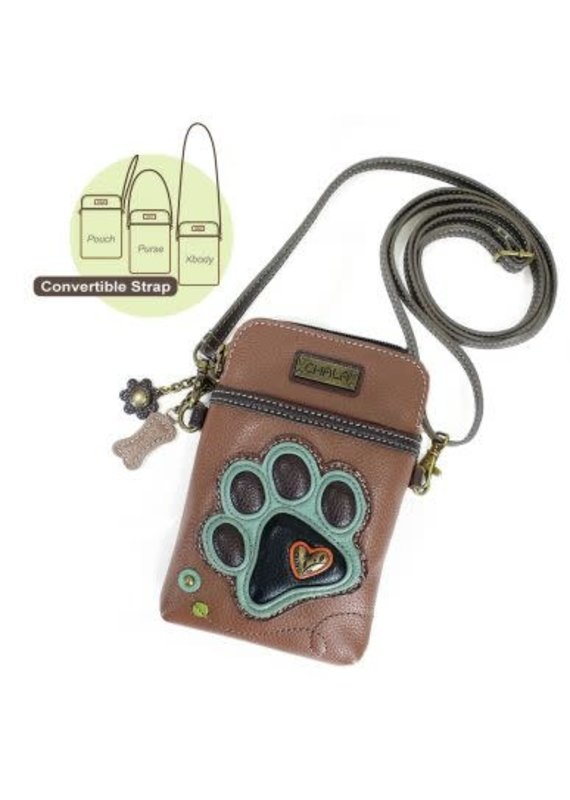 Chala Chala Cell Phone X-Body Paw Print Teal