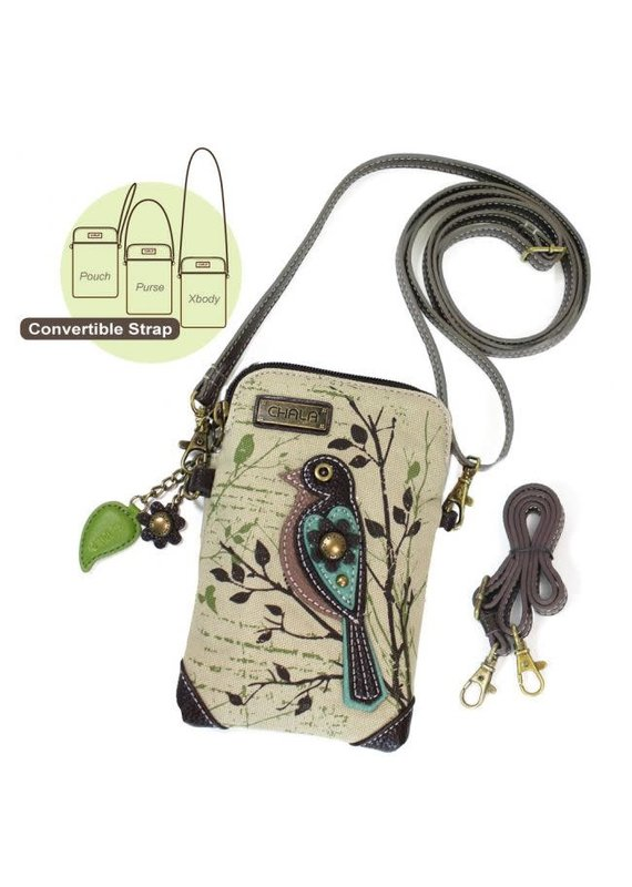 Chala Chala Cellphone Crossbody Canvas Safari Bird