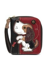 Chala Chala Zip-Around Wallet Beagle