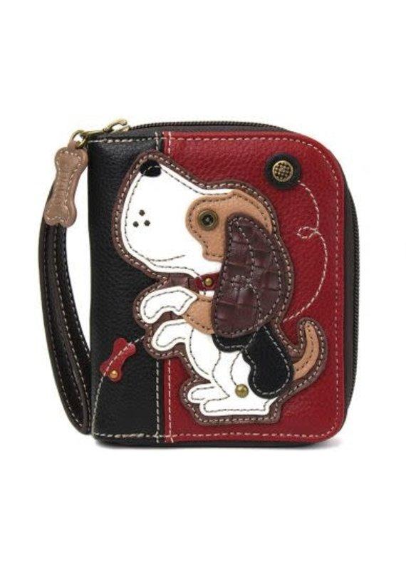 Chala Chala Zip-Around Wallet Beagle