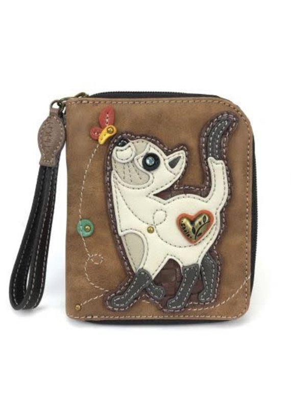 Chala Chala Zip-Around Wallet Cat Slim
