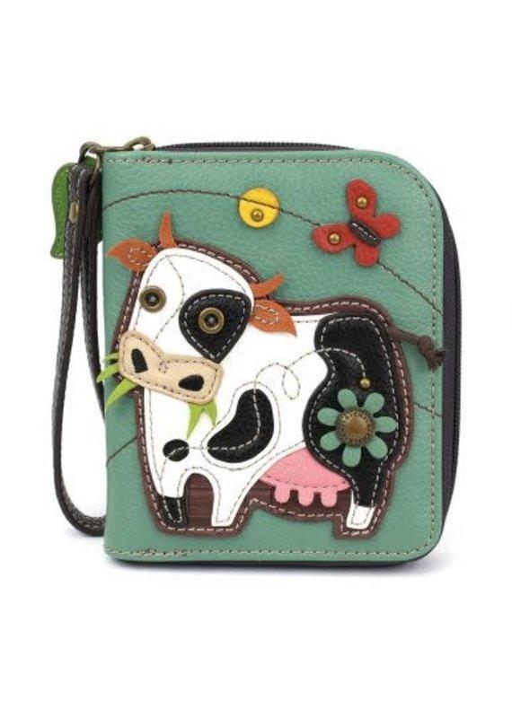 Chala Chala Zip-Around Wallet Cow