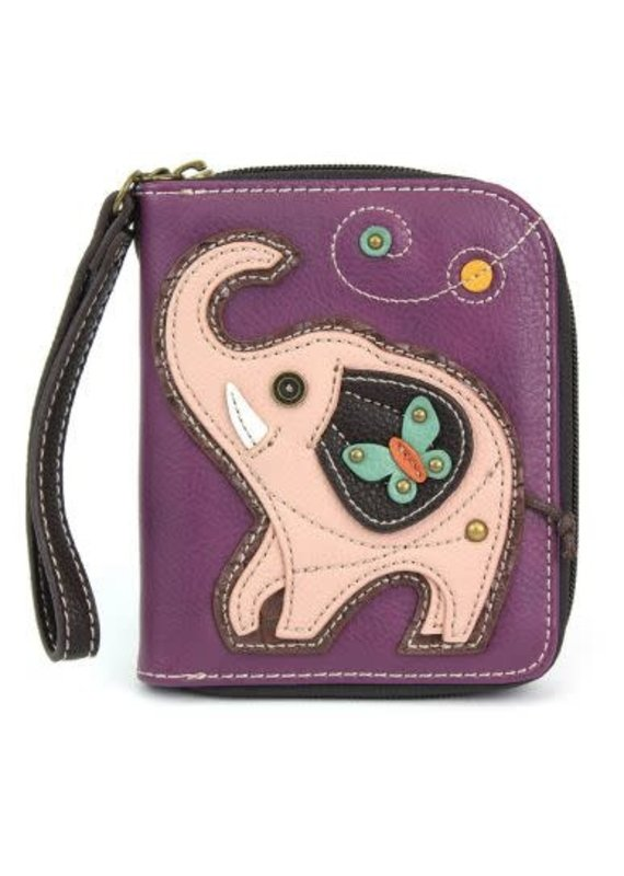 Chala Chala Zip-Around Wallet Elephant