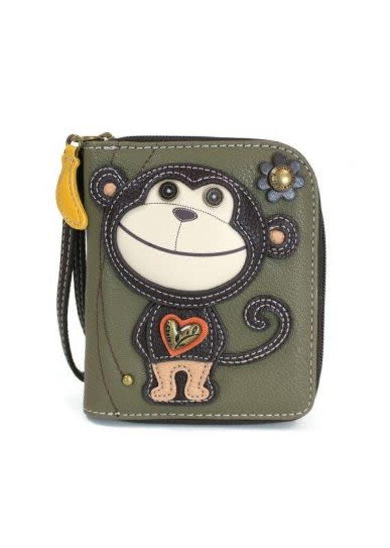 Chala Chala Zip-Around Wallet Monkey