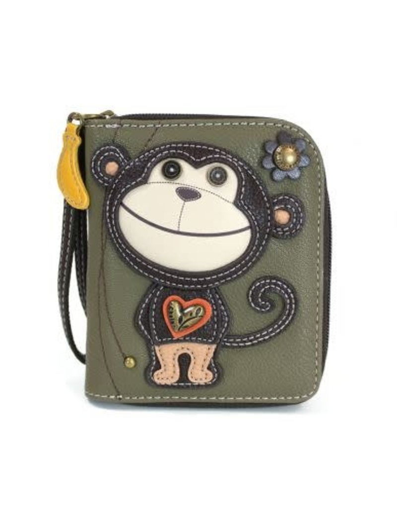 Chala Chala Zip-Around Wallet Monkey