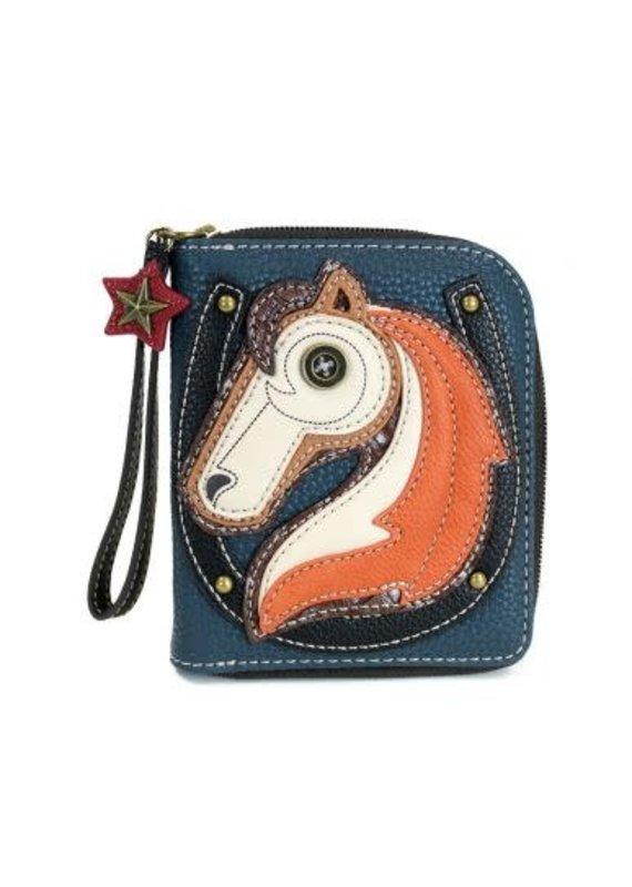 Chala Chala Zip-Around Wallet Horse