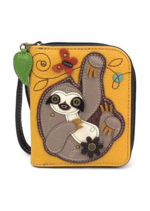 Chala Chala Zip-Around Wallet Sloth