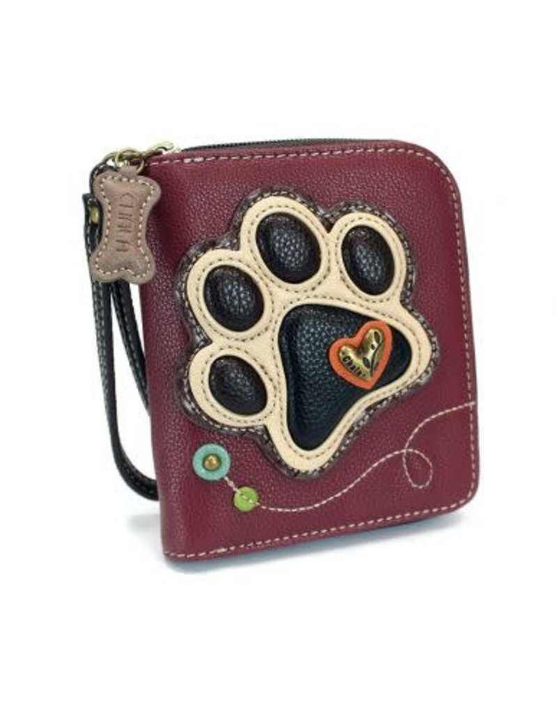 Chala Chala Zip-Around Wallet Paw Print