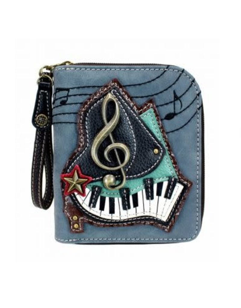 Chala Chala Zip-Around Wallet Piano