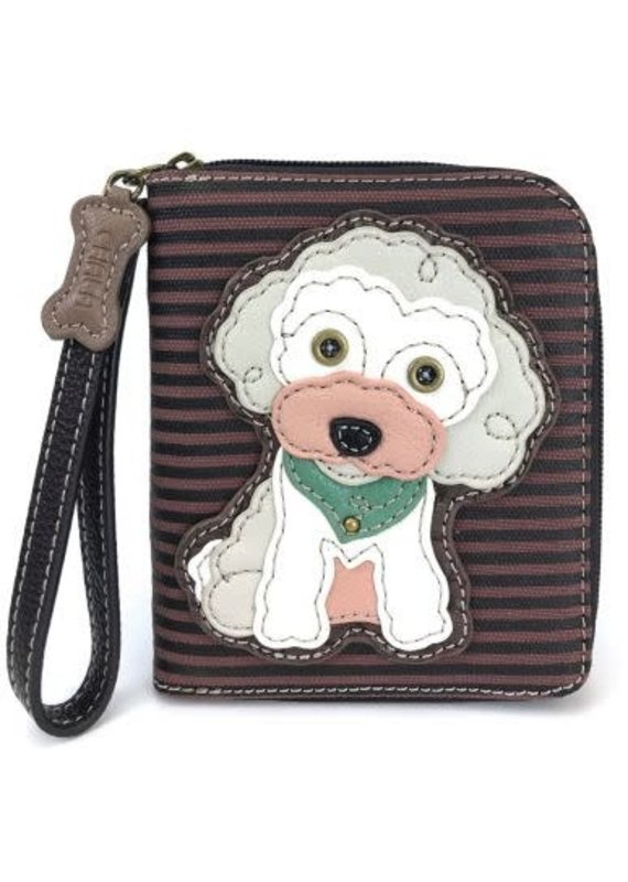 Chala Chala Zip-Around Wallet Poodle