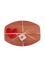 Small Heart Board w Spreader Roses Pink