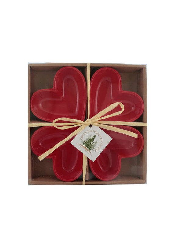 Set of 4 Dipping Dishes Heart