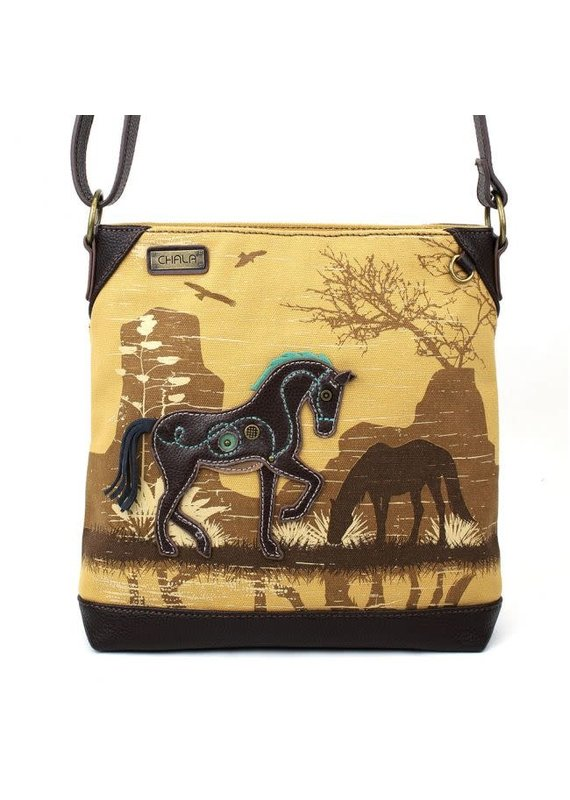 Chala Chala Canvas Crossbody Safari Horse