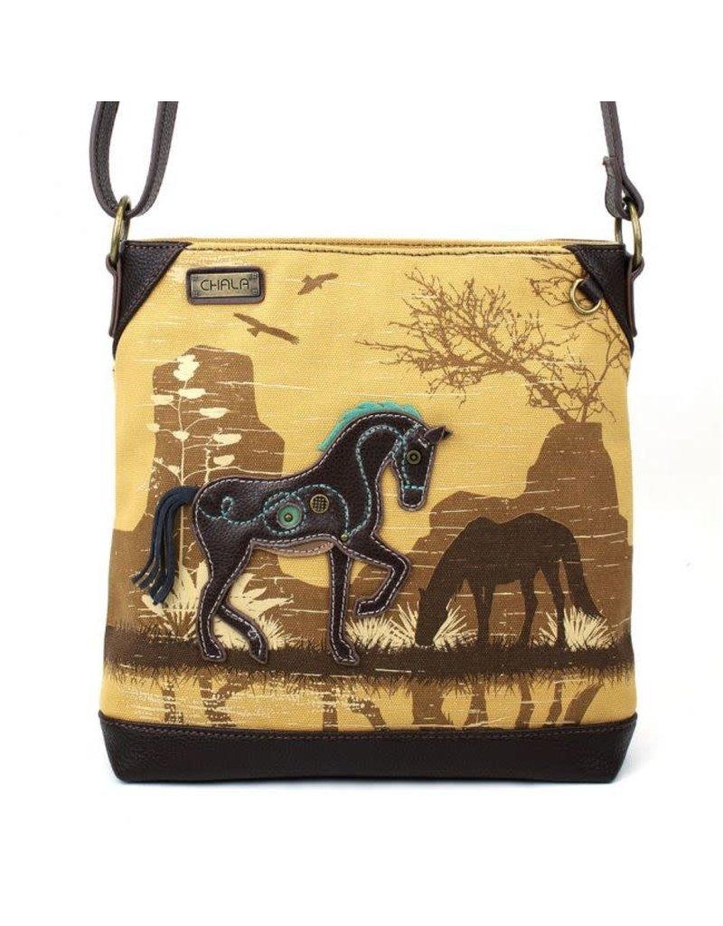 Chala Chala Canvas Crossbody Safari Horse