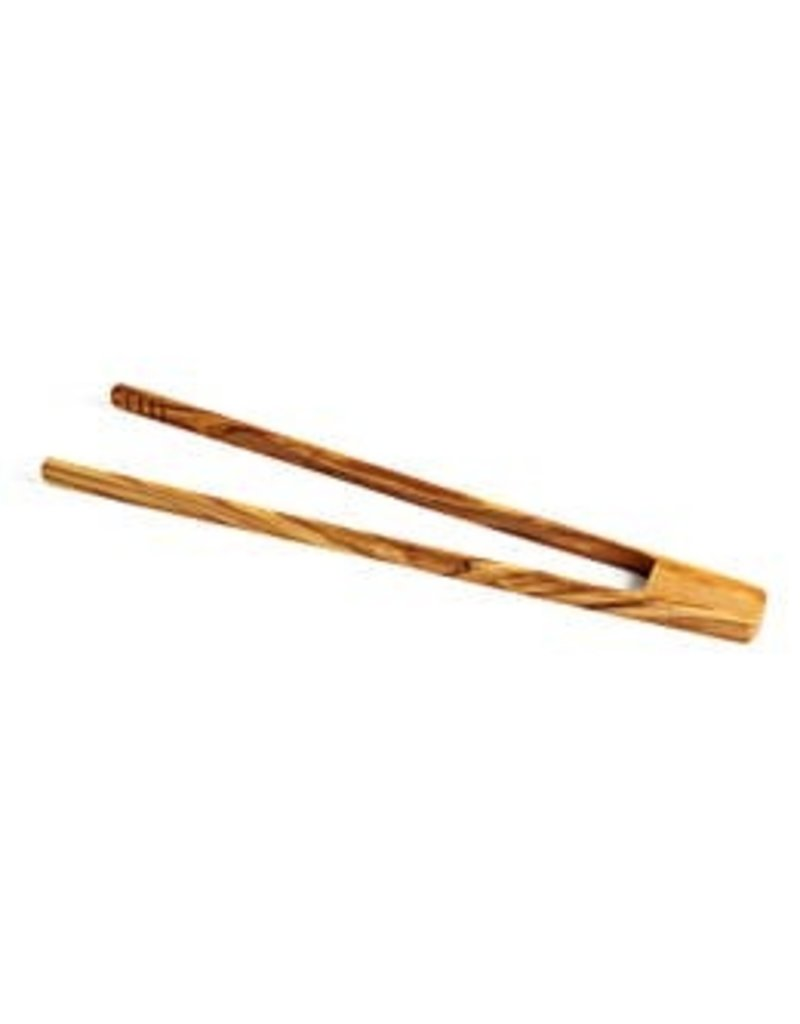 """Natural Olive Wood Olive Wood Toaster Tongs 11.8"""""""