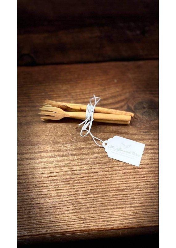 Natural Olive Wood Olive Wood Appetizer Forks Set of 4