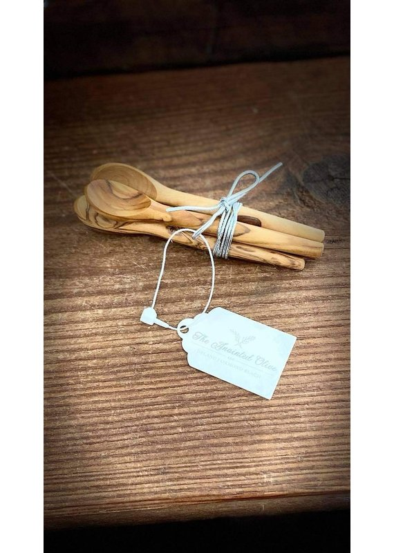 Natural Olive Wood Olive Wood Mini Scoops Set of 4