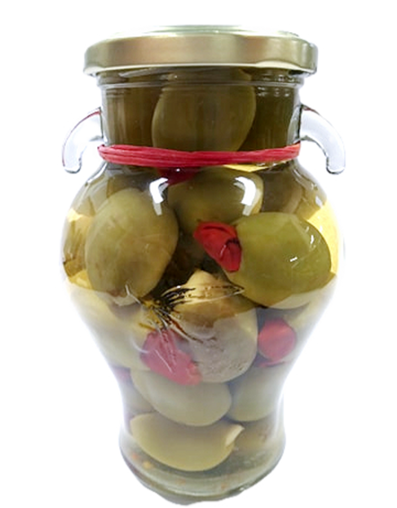 Olives Gordal Olive Stuffed with Garlic & Red Chili