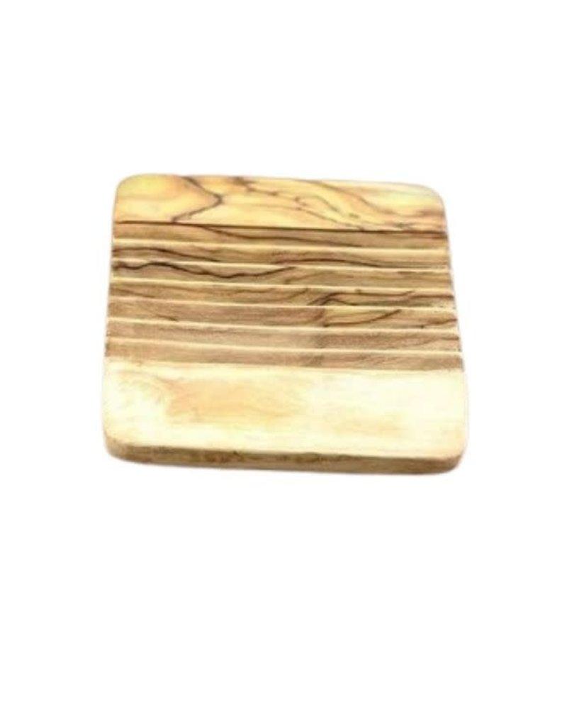 Natural Olive Wood Olive Wood Soap Dish