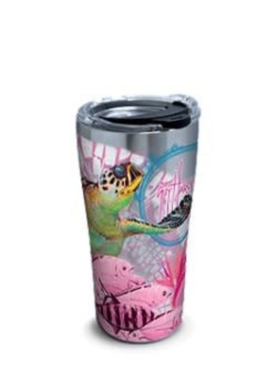 Tervis Tervis 20oz Stainless Steel w/ Hammer Lid Guy Harvey- Breast Cancer Awareness Turtle