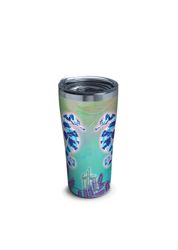 Tervis Tervis 20oz Stainless Steel w/ Hammer Lid Guy Harvey- Neon Sea Horse